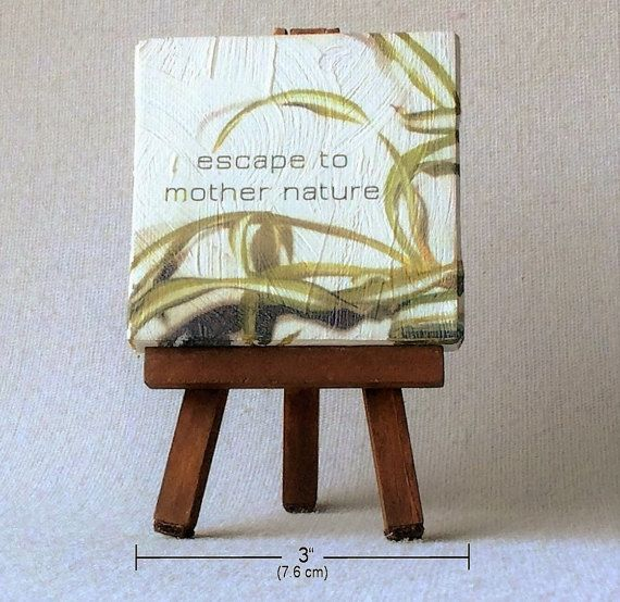 Inspirational quote art  small canvas art  by TheSmallestThought