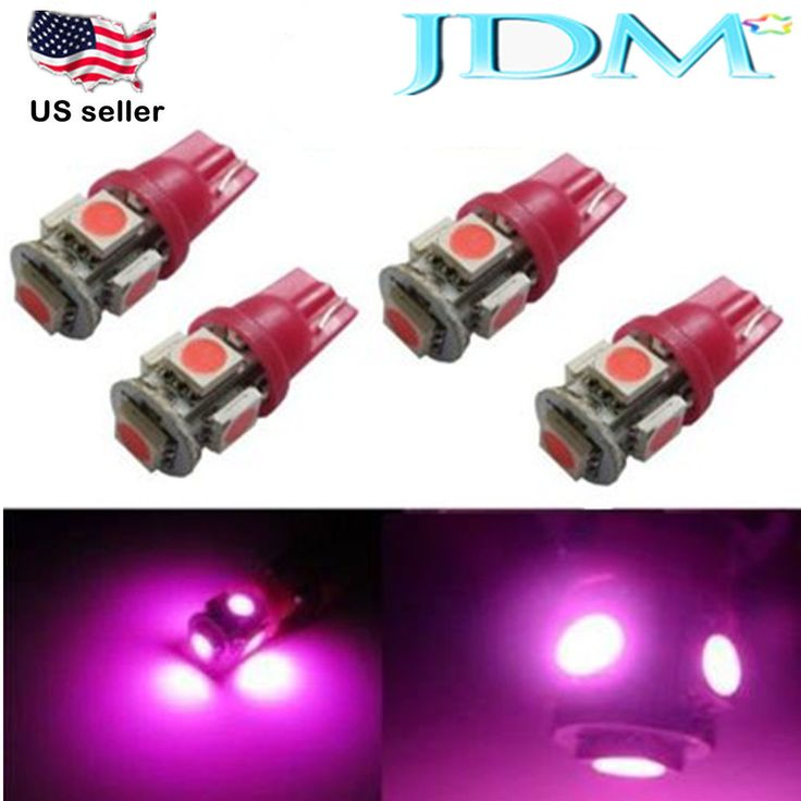 Jdm Astar 4x5 Smd T10 Magenta Pink License Plate Light Led Bulb W5w 2825 168 194 Jdmastar Automotive Led Lights Led Replacement Bulbs Led Strip Lighting