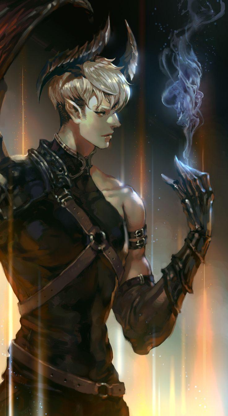 Mabinogi, warlock tiefling, descendente de Tharanx Durl'Gal, demônio Legatus Prior dos Caídos. Nascido em Adovon, criminoso capturado e que foi dada a chance de entrar para o Unidade de Elite do reino.