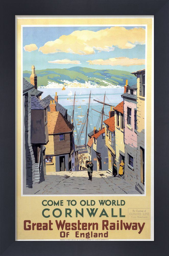 Come to Old World Cornwall Art Print by National Railway Museum   King & McGaw