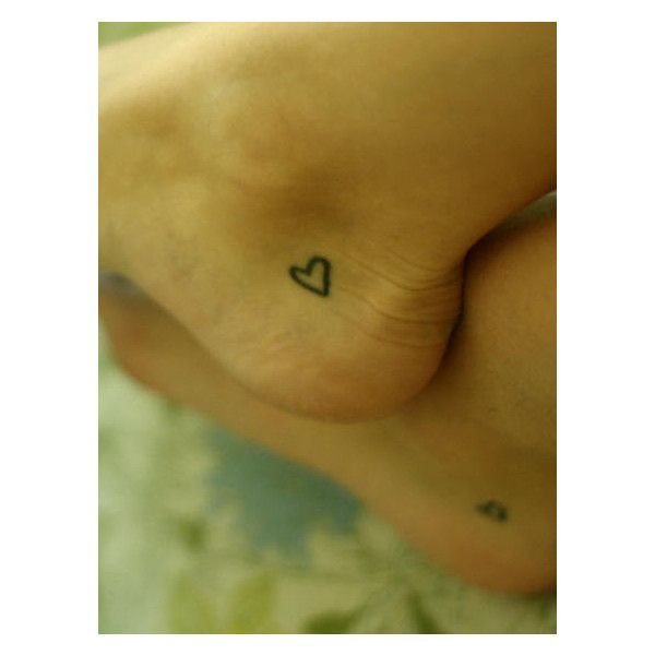 Small heart Tattoos. Maybe sister tattoos?
