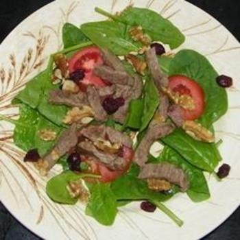 Steak and Spinach Salad: Spinach Recipe, Salad Recipes, Steaks, Salads Dressing, Food Salads, Spinach Salads, Salad Food And Drink, Favorite Recipes, Recipes Salad