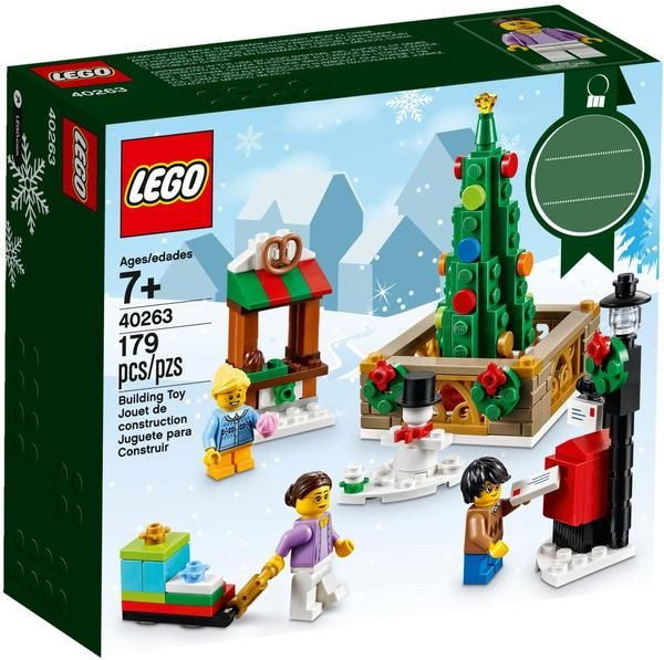 Lego 40263 Christmas Town Square In 2020 Lego Christmas Best Lego Sets Lego Christmas Sets
