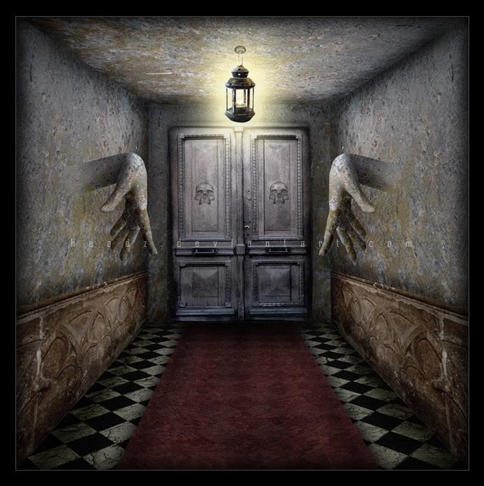 hall - Haunted Halloween Decorations