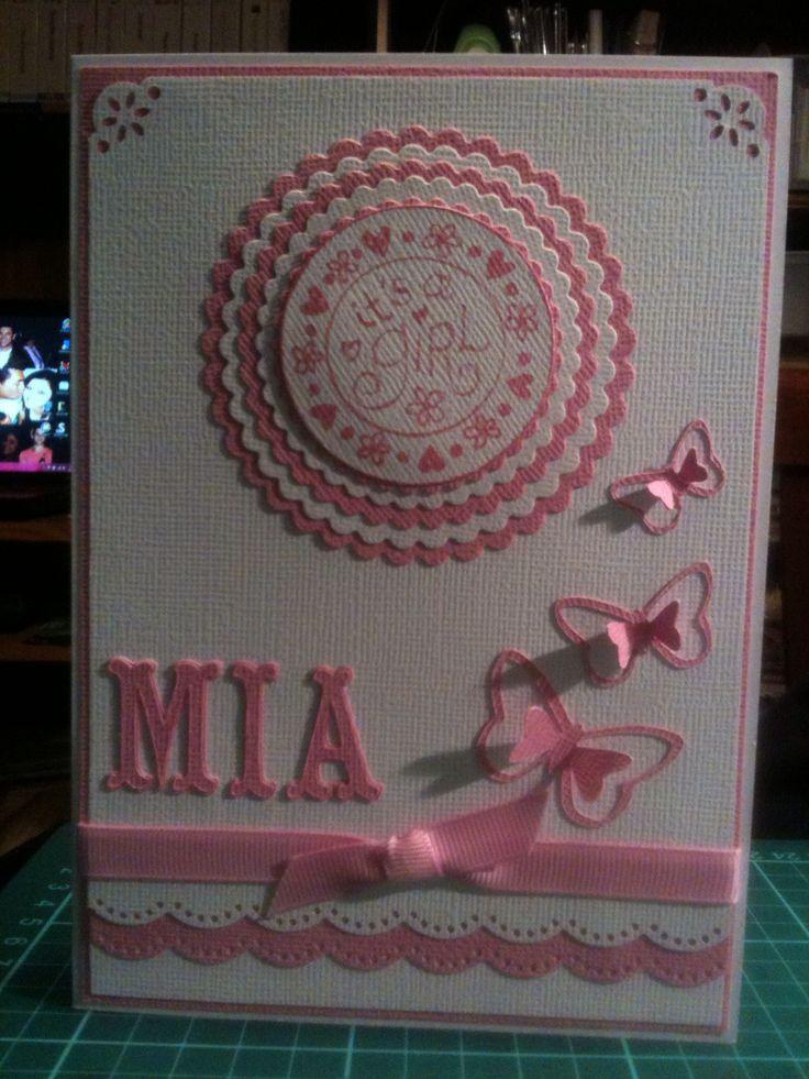 Baby girl card Maxie
