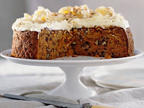 Carrot Cake with Honey Cream Cheese  Frosting - Gluten Free