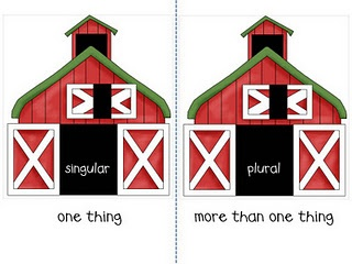 singular/plural -  sort - write sorted lists - write sentences to show understanding - could illustrate pic to extend center time if needed