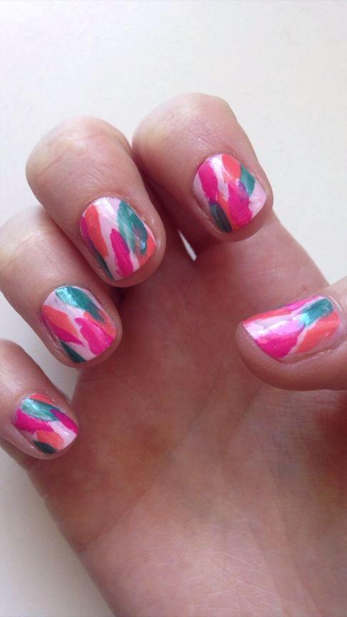 DIY Bold Summer Nail Design