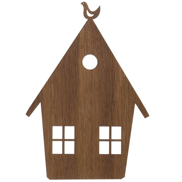 Ferm Living Wandlamp huis bruin hout 27x38,5cm Smoked Oak - wonenmetlef.nl