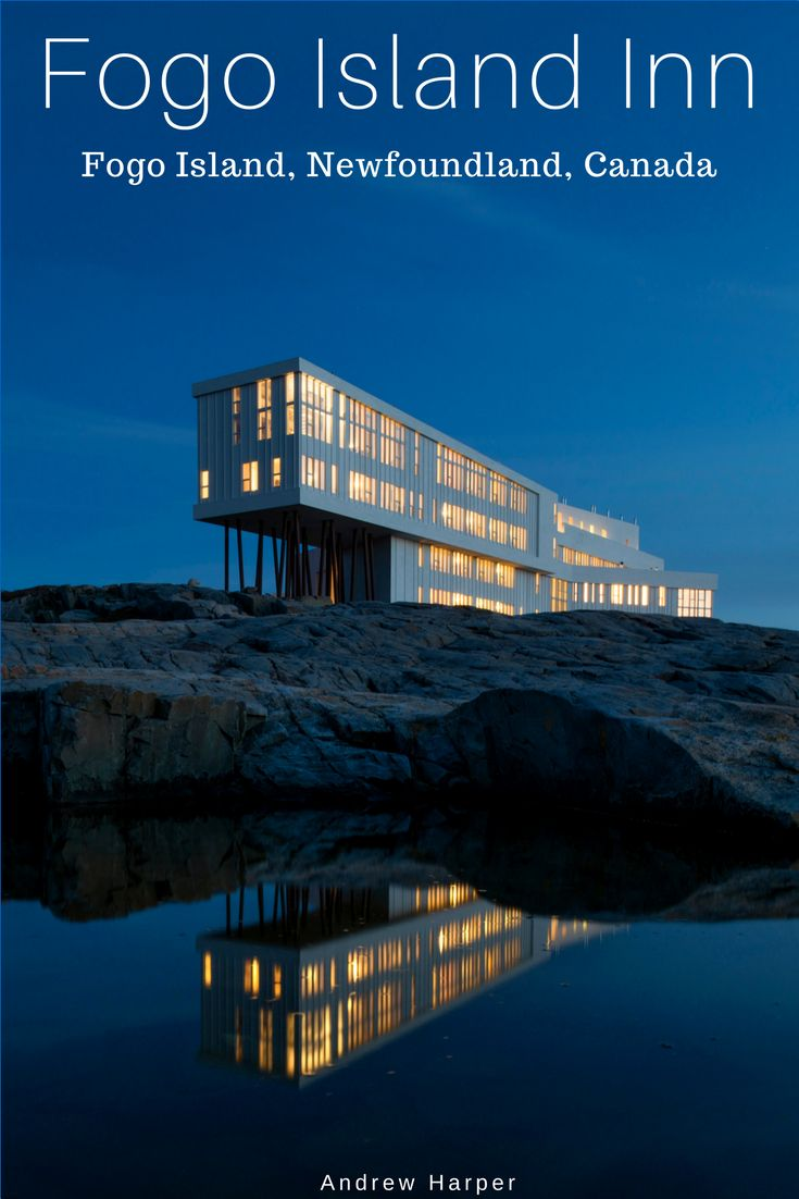 #14 - The sculptural Fogo Island Inn stands with stunning improbability near a remote fishing village off Newfoundland's northeast coast. The main four-story modernist structure is cross-shaped, with one axis supported by angled metal poles. Colorful quilts and handmade furniture complement the stark white interior. Those who have a recurring dream of getting away from it all to explore the far corners of the earth will find that the 29-room Fogo Island is its realization.
