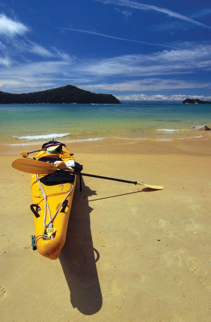 Kayaking in the Abel Tasman National Park, New Zealand. Photo by Sebastian Wahsner