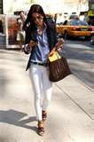 white pants and a navy blazerWhite Skinny, Casual Friday, Navy Blazers, Style, Whitejeans, Denim Shirts, White Pants, Work Outfit, White Jeans