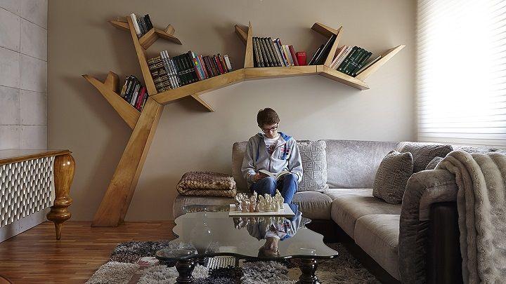 Resultado de imagen de estanterías para libros en forma de arbol