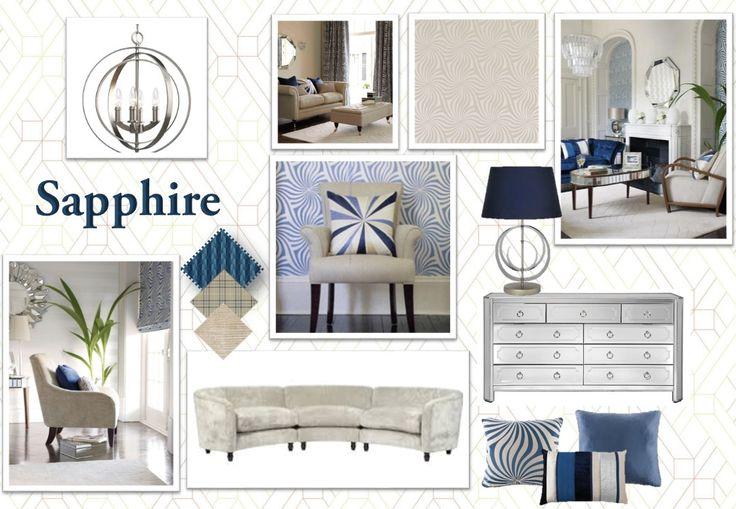Sapphire Sable Silver Home Decor Presentation Board Presentation