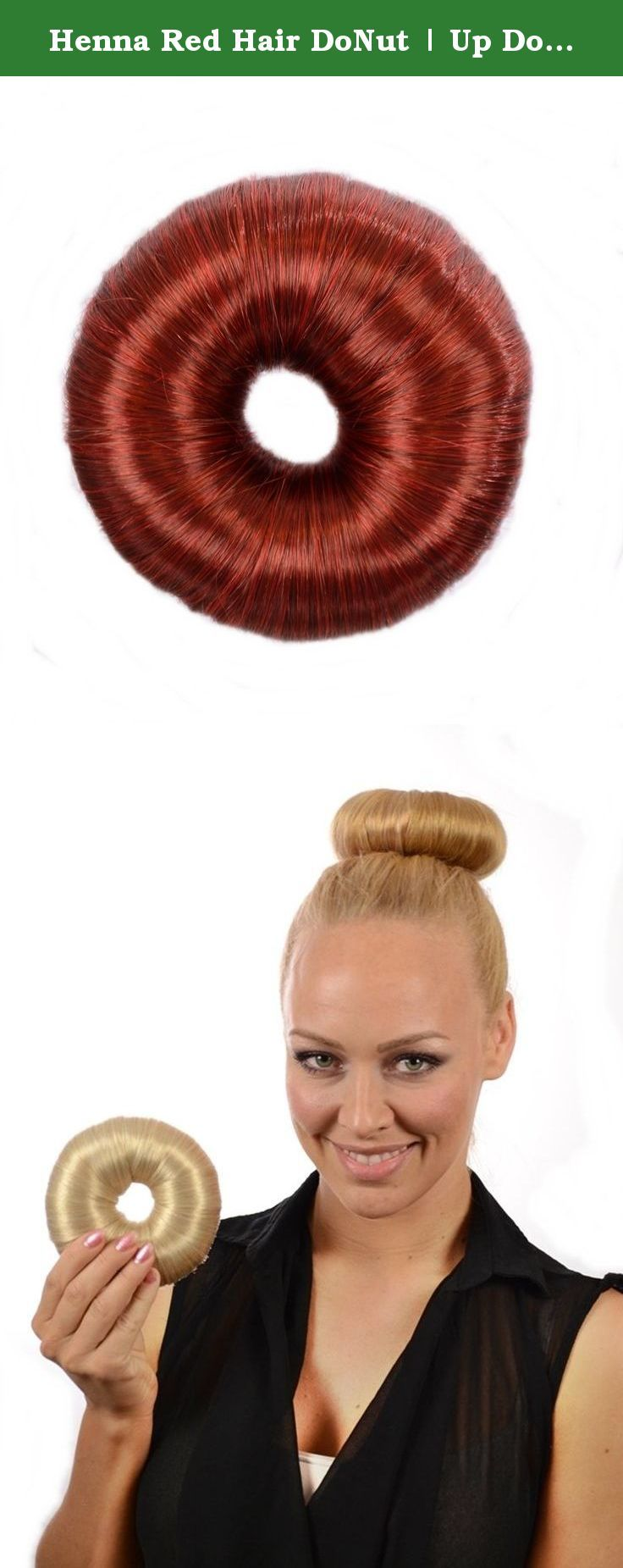 Henna Red Hair DoNut | Up Do Soft Flexi Hair Ring | Multi Use Hairstyler | Bun creator. Hair DoNut | Flexi Soft Hair Rings | Create Fabulous Top Knots Buns & Rings Made from soft flexi rings wrapped in synthetic fibre which gives a fuller healthier looking hairstyle. No sponge showing from your updo style with Hair By MissTresses UpDo Nuts - Choose from 10 hair shades. Multi style use : Classic Buns, Top Knots, Rings, Loose Buns. Use at work, for fashion or party hairstyle. Hair Do Nuts…