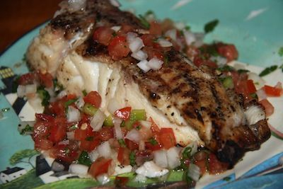 The salsa combined with the marinade flavoring make this a mouthwatering fish recipe!