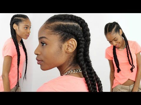Create a Super Cute Cornrow Style Here: http://www.naturalhairmag.com/cornrows-natural-hair-extensions/ IG:@rayann410 #naturalhairmag #protectivestyles YouTube