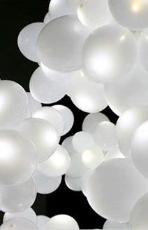 Balloons and Balloon Lights Balloon Lights: Five White Balloons with LED Lights Price $8.00
