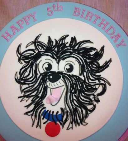 Hairy Maclary Birthday Party - birthday cake #kidspartyideas