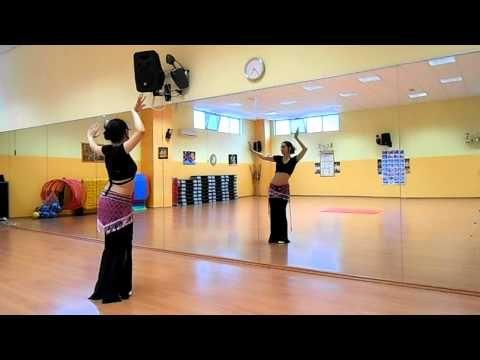 Basic Tribal fusion Bellydance workout - SLOW - Danza del ventre L'Aquila