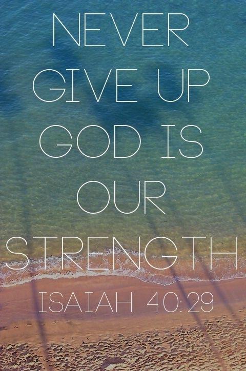 Bible verse ; Isaiah 40:29