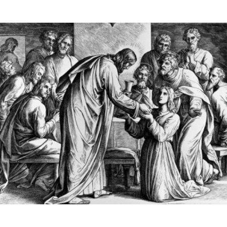 Der Beginn des Letzten Abendmahls von Julius Schnorr Von Carolsfeld 1794-1872 …   – Faith