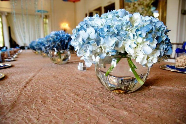 Blue centerpiece flowers pinterest centerpieces