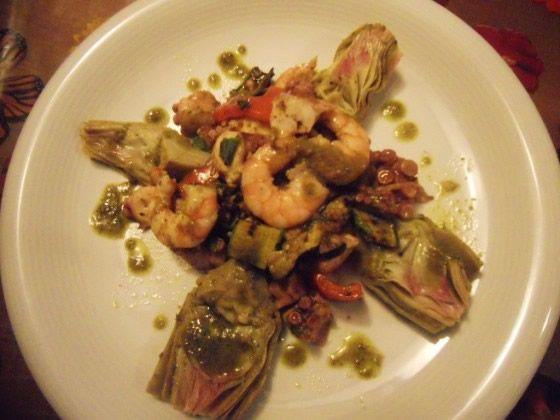 Insalata tiepida di mare con carciofi e verdure grigliate | Ricette della Nonna