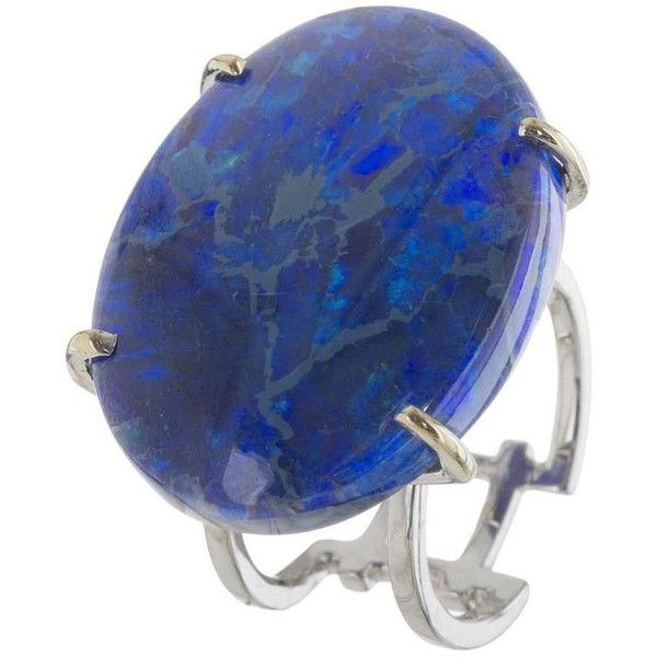 Australian Lightning Ridge Opal Gold Ring ($37,900) ❤ liked on Polyvore featuring jewelry, rings, multiple, yellow gold opal ring, gold rings, gold band ring, gold opal ring and yellow gold jewelry