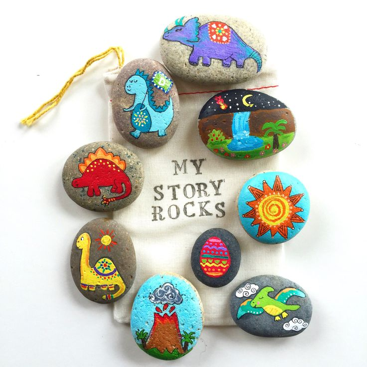 Story Stones and Painted Rocks / Dinosaur Jurassic World painted stones Game and Toy by Thrive360Living on Etsy https://www.etsy.com/listing/249802678/story-stones-and-painted-rocks-dinosaur