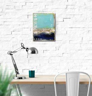 """""""Sea Kiss"""" - original 'coastal abstract' painting by Sabina D'Antonio"""