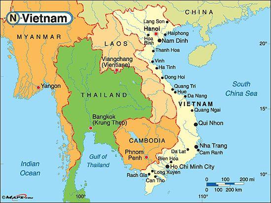 Vietnam Map - http://travelsfinders.com/vietnam-map.html