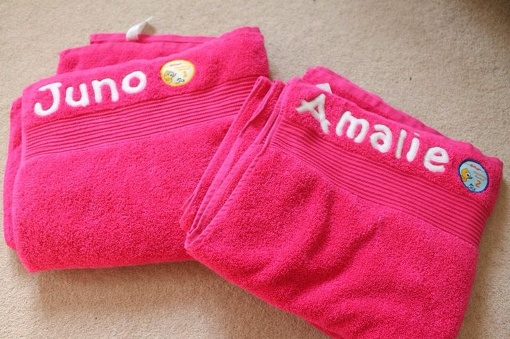 Personalised towels x