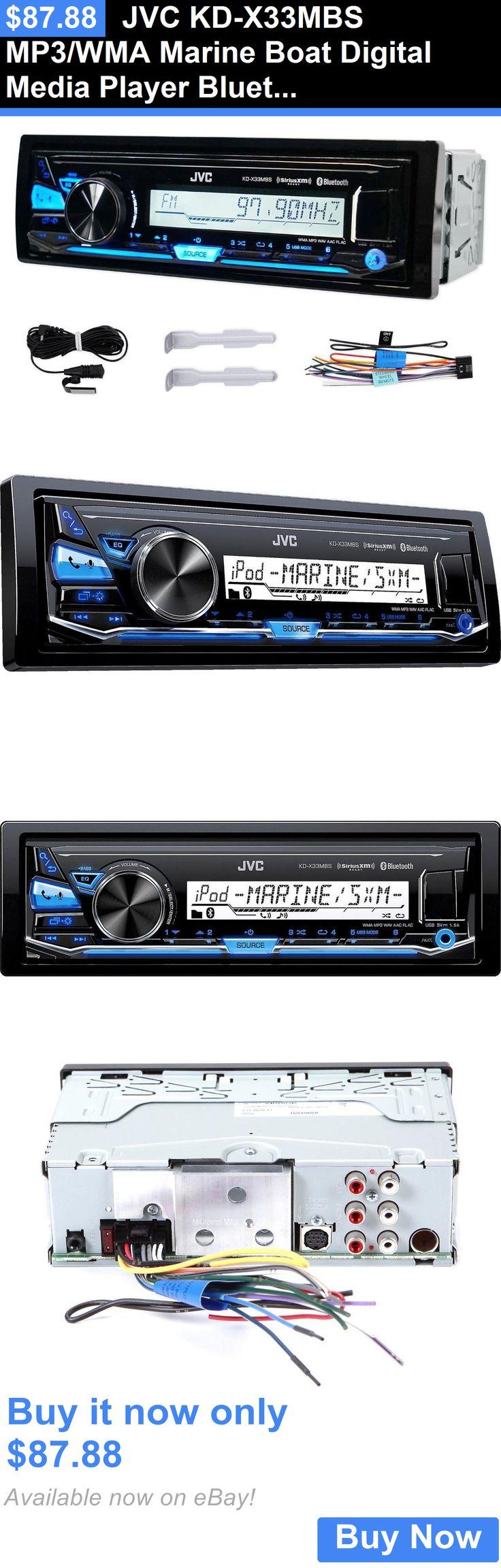 Car audio in dash units jvc kd x33mbs mp3 wma marine boat