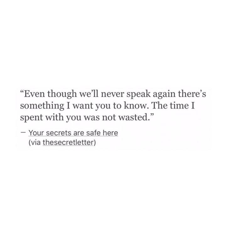 I wish you still felt the same