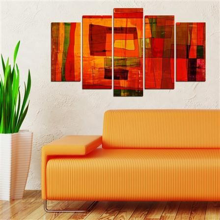 ACHICA | Feature Wall Art - Orange Squares Printed Panels 60x100cm & 28 best Artwork images on Pinterest | Feature walls Promotion and Au