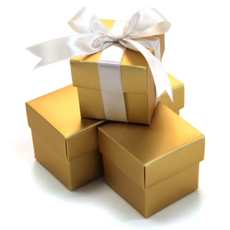 2 PC Favor Boxes 2x2x2 - Gold [403513 2 Piece Favor Boxes Gold] : Wholesale Wedding Supplies, Discount Wedding Favors, Party Favors, and Bulk Event Supplies