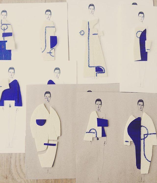 #shapeinspiration #sketch #ba #fashion #process #geometric #shapes