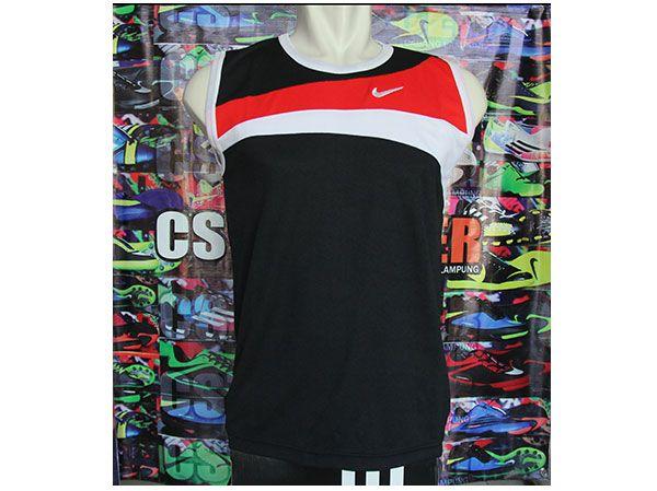 Kaos Singlet Nike HItam Rp 35.000