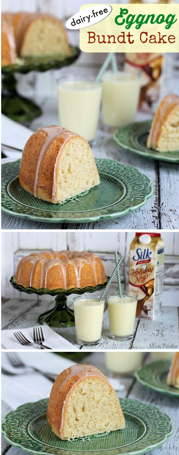 Eggnog Bundt Cake (non-dairy) #plantprotein