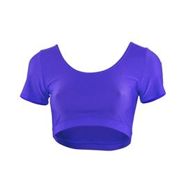 Starlite Maya Dance Crop Top, with mid sleeves and a round top. Right on trend, this dance cropped top is suitable for nearly all types of dance, particularly hip hop, street, jazz and ballet for layering, as well as fitness, gym, zumba & yoga. Available in colours - Black, Delphinium, Flo Green, Flo Orange, Flo Pink, Red, Turquoise, Vert Green, White, Yellow. www.dancinginthestreet.com.