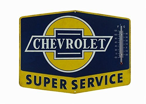 Open Road Brands Chevrolet Thermometer Sign  Super Chevy Service Tin Sign -- You can get additional details at the image link. (This is an affiliate link and I receive a commission for the sales)