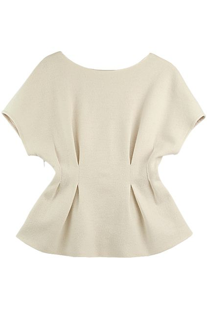 ROMWE | Pleated Waist Raglan Sleeves White Blouse, The Latest Street Fashion
