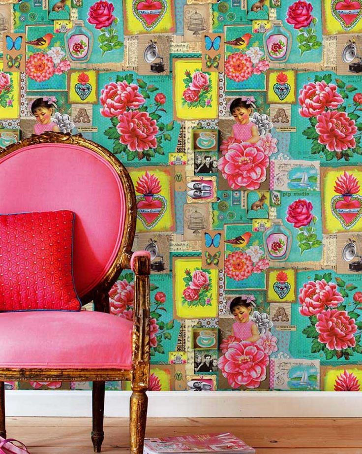 Porewit | Romantic wallpaper | Wallpaper patterns | Wallpaper from the 70s