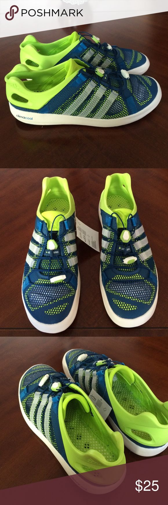 Adidas boat sneakers summer shoes men new Brand new mens adidas boat shoes. They are size 10.5 men. Like 12-13 womens. They are summer shoes meant to get wet and very breathable. Nice colors perfect for the hot weather. Thanks Adidas Shoes Sneakers