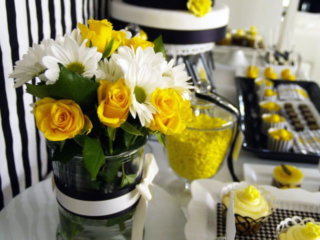 Black, White and Yellow Birthday Party.