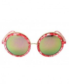 402d4b62f0623 V173-vp Oversized Thick Round Sunglasses - B3192f Pink Marble-greenish Pink  Mirror -