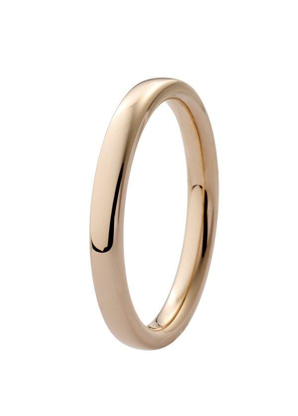 Forlovelsesring/giftering rødt gull