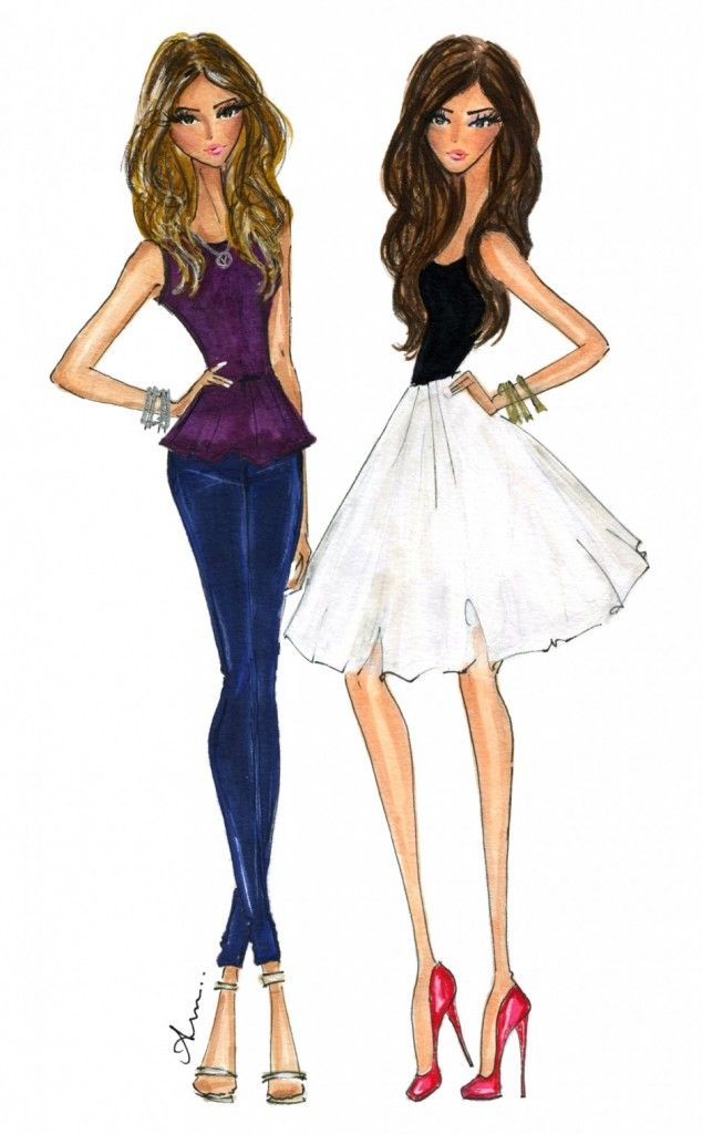 Illustrations by Anum - reminds me of what my 2 flacas will look like later...♡