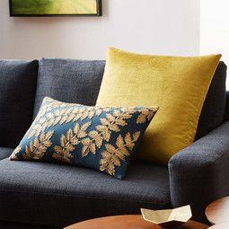 Cotton Lustre Velvet Cushion Cover - Velvet Gold